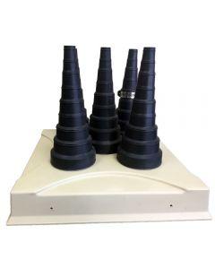 Pipe Portal 5 Cap Cover with C-555 Black Caps
