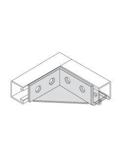 Six-Hole Wing Fitting Single Corner Gusset Right